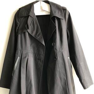 Via Spiga black coat w/ belt